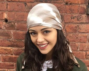 Tie Dye Pre Tied Headscarf Hijab For Fashion or Hair Loss