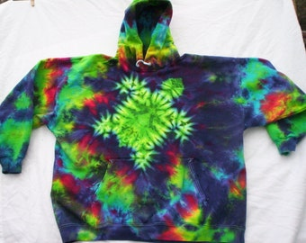 Light Shines Tie Dye Hoodie Size Large PcODLiN4Hk