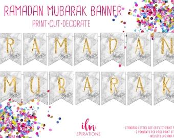 Ramadan DIY decorations, Ramadan paper bunting, Ramadan countdown decoration, Ramadan banner, Ramadan garland, printable Ramadan decoration