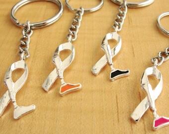 Amputee Awareness Key chain Ring -  Prosthetic Leg Awareness - Limb Loss Awareness
