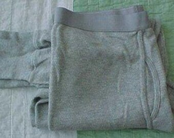 Zero Shipping Men's Grey Longjohns Large 1998