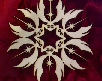 "Star Wars Jedi Order Laser Cut Wood ""Snowflake"" Ornament"