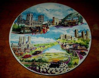 Large decorative plate Paris