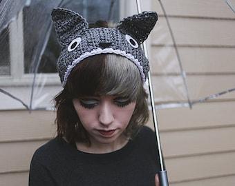 My Neighbor Totoro - Handmade Totoro Crochet Ear Warmer Headband
