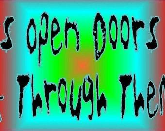 10in x 3in Teachers Open Doors You Walk Through Bumper Sticker Decal Stickers Decals
