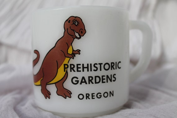 Rare 1970s Prehistoric Gardens Oregon Coffee Mug/ Oregon Collectible/Port Orford Oregon/Vintage Portland/Oregon Coast/Tyrannosaurus Rex