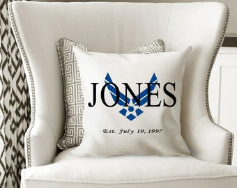 Air force gift / airman gift / air force decor / Personalized pillow / air force graduation / graduation gift / Personalized Air Force gift