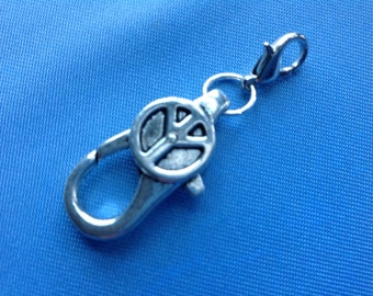 Extender, Silver Tone, Antiqued, Bracelet or Necklace, Peace Sign,  1.5 inches, 38 mm