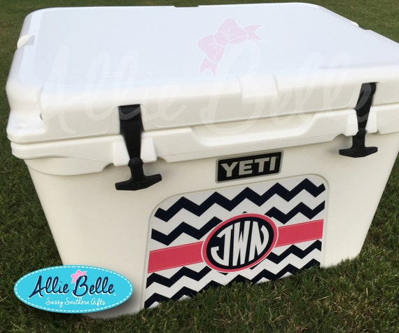 Yeti tundra or roadie cooler wrap decal custom yeti cooler decal 3m wrap decal personalized roadie 20 tundra 354550 chevron from alliebelledesigns on