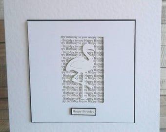 FLAMINGO BIRTHDAY CARD - love flamingos - cards for her - birthday card - Handmade Birthday card