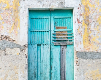 Izamal Mexico Photography, Yucantan Mexico Art, Turquoise Door, Mexico Travel Photography, Mexican Art, Turquoise Art, 8x12 Photo Print