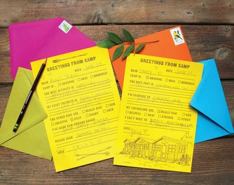 Camp Letters - Letterpress Letter Writing Kit