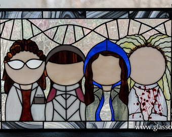 Clone Club Stained Glass Panel