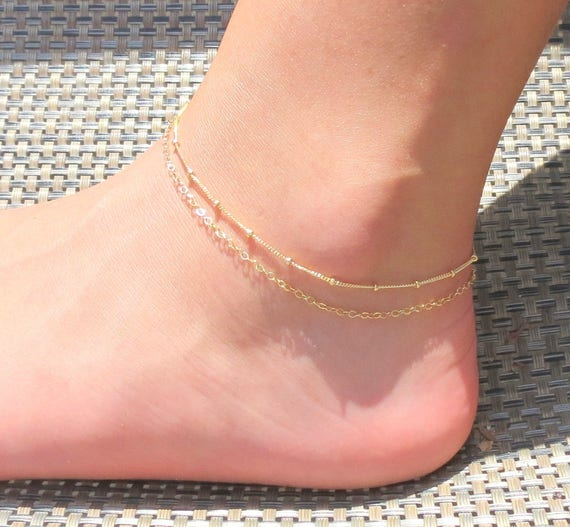 bracelet ankle amazon dainty gold anklet dp beach opal com jewelry