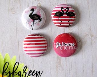 "Badge 1 ""- Flamingo"