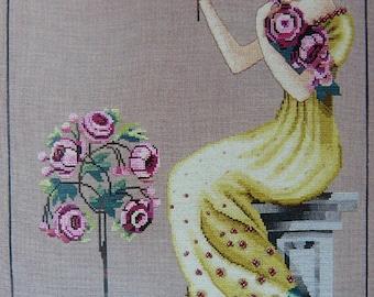 Embroidery Peony Garden