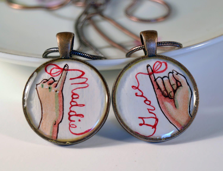 Best friend necklace set personalized friendship necklaces zoom aloadofball Images