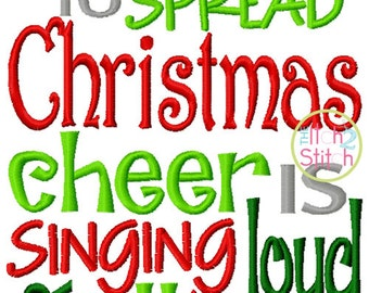 Best Way to Spread Christmas Cheer Embroidery Design For Machine Embroidery  INSTANT DOWNLOAD now available