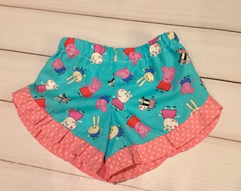 Peppa Pig girls ruffle shorts