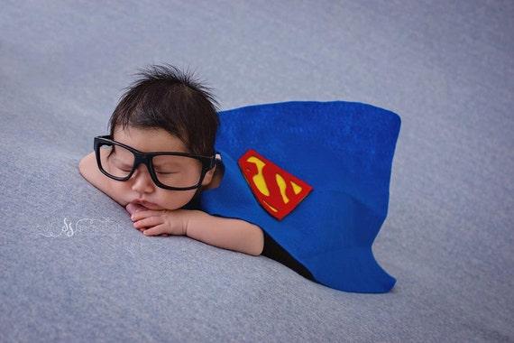 Baby superman newborn superman cape set photo prop newborn