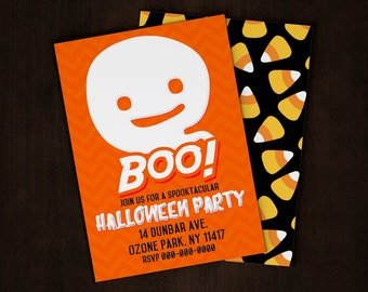 Custom Ghost Halloween / Costume Party Even Invitation Card - 5x7 or 4x6