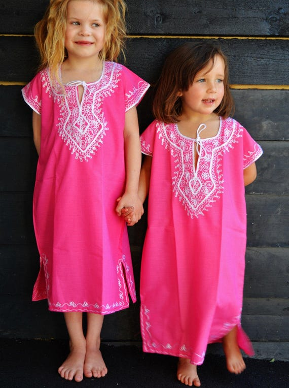 Marwa-Pink with Gold 4-6 year old kaftan for Melika -Reserved Order, Ramadan, Eid