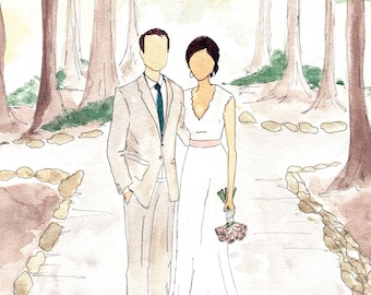 Bridal Portrait of Bride and Groom on Wedding Day as Wedding Momentum. Bridal Gift. Paper Anniversary Gift.