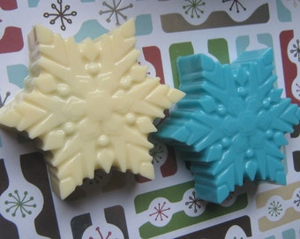 Snowflake large chocolate covered sandwich cookie oreo party favors
