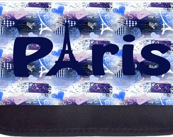 Paris Love  - Black Pencil Bag - Pencil Case