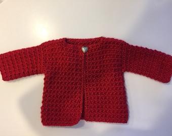 Crocheted Little Girl's Sweater-Jacket