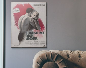 Hiroshima mon Amour 1959 Wooden French Vintage Poster