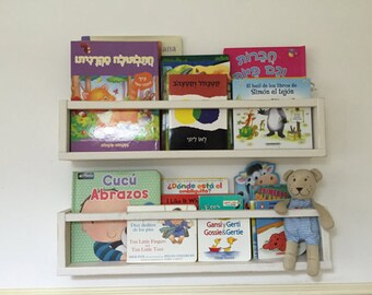 Kids furniture, set of 2 shelves for kids, shelves, wall decor, reclaimed wood furniture, book shelves, kids room decor, nursery decor