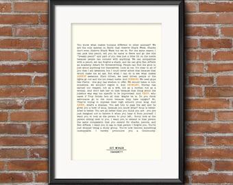 Community Quote Poster, Jeff Winger, S1E1 Monologue, Quote Print, Digital Art Print, A1 A2 A3, Community Quote Print, Handmade Print