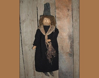 Primitive folk art Halloween witch instant download pattern HAFAIR HAGUILD OFG faap 119