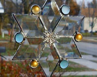 Beveled Glass Snowflake
