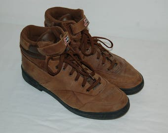 Men Size 10 1/2 Vintage Justin Sport Lace-r Brown Ankle Hiking Boots- 90s Fashion