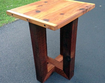 wood table pub dining patio