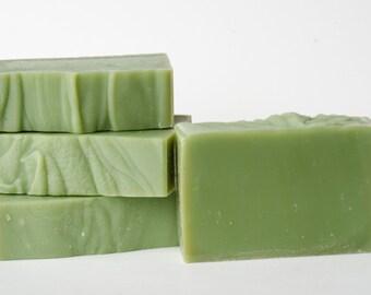 Tea Tree Soap, All Natural Handmade Soap, Cleansing Rustic Soap, Beautiful Handcut Soap for Men and Women