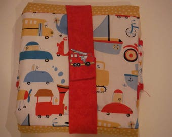 Planes, Boats and Trains Quilted Pack 'n Go Diapering pad