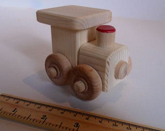 Small Wooden Toy Train, Wood Toy, Handmade Waldorf Simple Kids Toy, Kids Birthday gift, Party Favor, Jacobs Wooden Toys