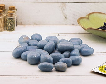 Angelite Anhydrite Tumbled Gemstone - Stone of Ethereal Power