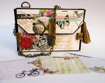 Mini Purse Scrapbook Album Tutorial (Video plus PDF) Instant Download
