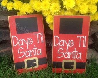 Days til Santa Sign, Countdown to Christmas Sign, Christmas Countdown, Chalkboard Vinyl Countdown, Holiday Decor, Days until Christmas