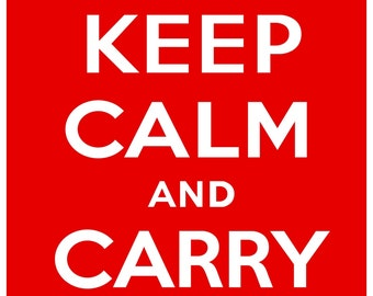 KC02 Keep Calm and Carry On Poster Print