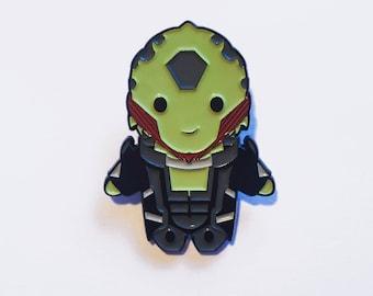 Chibi Mass Effect Thane Enamel Pin