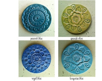 handmade ceramic coaster set