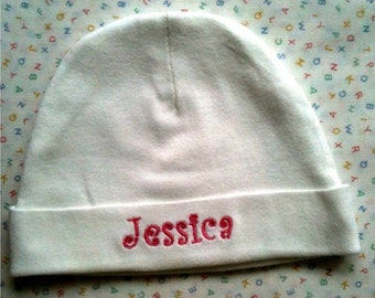 Personalized Baby Cap Hat Beanie Name Embroidered for FREE