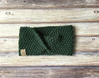 Twisted Turban Headband // Hunter Green // Womens Accessories