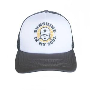 Trucker Hat For Women Sunshine In My Soul Zen Quote Mesh Trucker Hat Baseball Cap