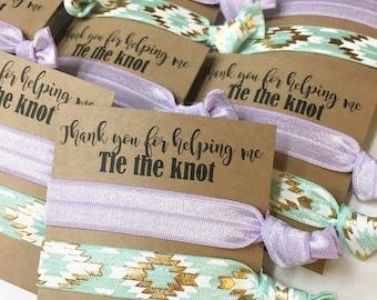 Bridesmaid hair tie favors//hair tie card, hair tie favor, bridesmaid hair ties, bridesmaid gift, elastic hair ties, wedding, bachelorette,